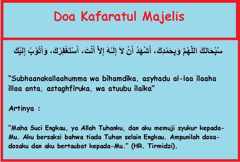 Doa-Kafaratul-Majelis