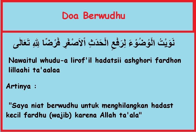 Doa-Niat-Berwudhu