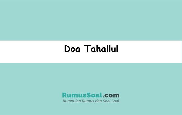 Doa-Tahallul