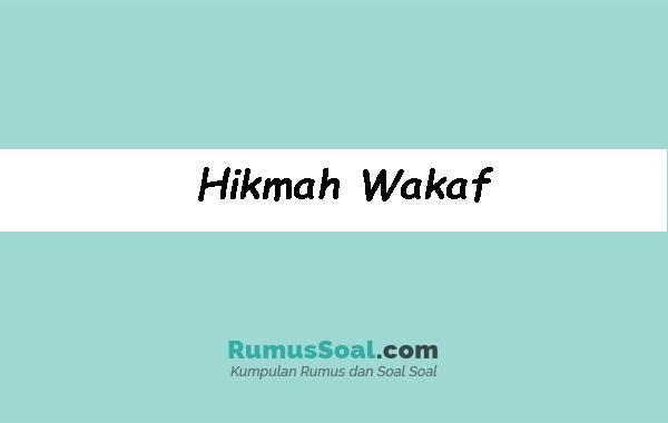 Hikmah-Wakaf