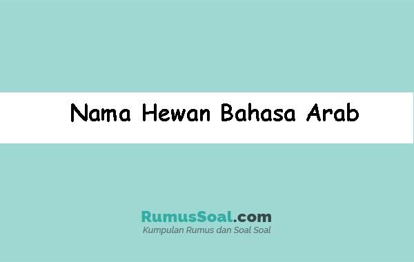 Nama Hewan Bahasa Arab Lengkap Dengan Artinya