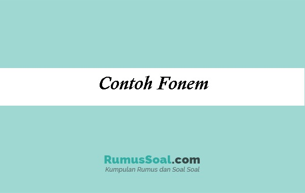 Contoh-Fonem