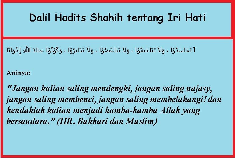 Dalil-Hadits-Shahih-tentang-Iri-Hati