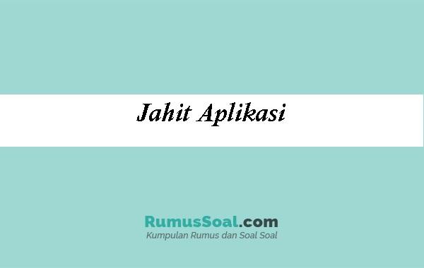 Jahit-Aplikasi