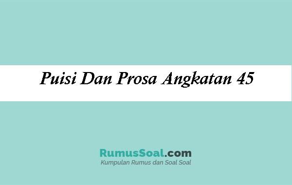 Puisi-Dan-Prosa-Angkatan-45