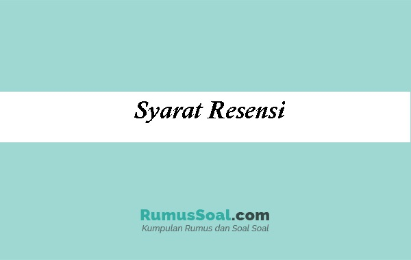 Syarat-Resensi