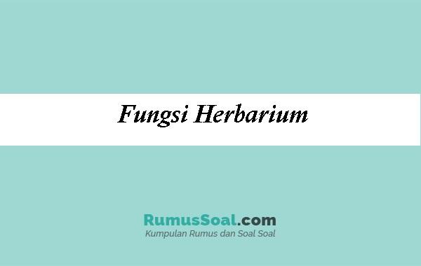 Fungsi-Herbarium