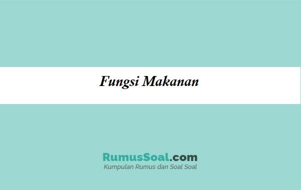 Fungsi-Makanan