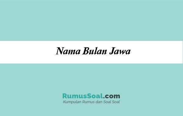 Nama Bulan Jawa