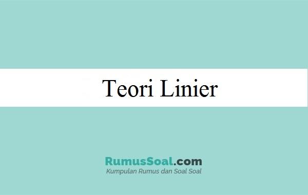 Teori Linier