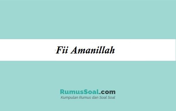 fii amanillah