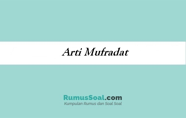 Arti Mufradat