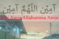 Arti Amin Allahumma Amin