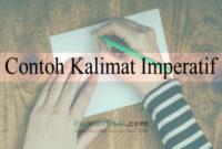 Contoh Kalimat Imperatif