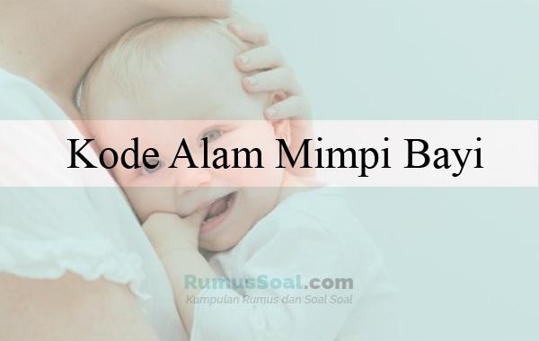 Kode Alam Mimpi Bayi