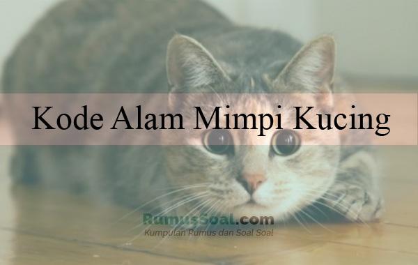 Kode Alam Mimpi Kucing