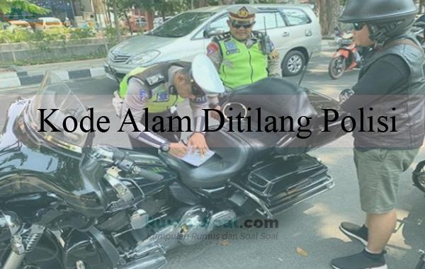 Kode Alam Ditilang Polisi