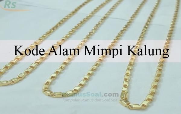 Mimpi memakai kalung emas togel