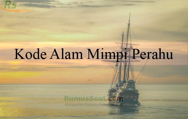 Kode Alam Mimpi Perahu