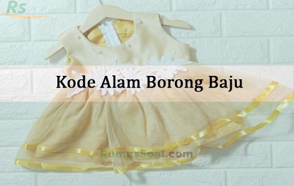 Kode Alam Borong Baju