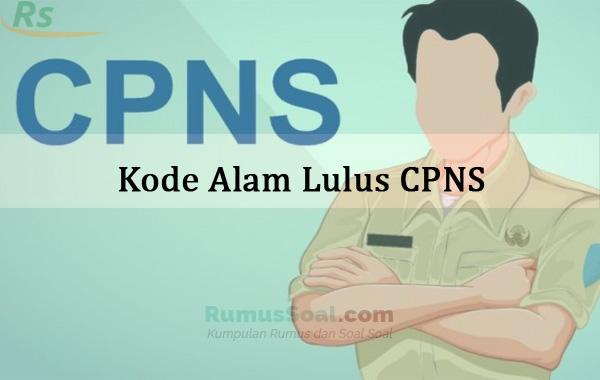 Kode Alam Lulus CPNS