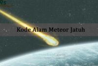 Kode Alam Meteor Jatuh