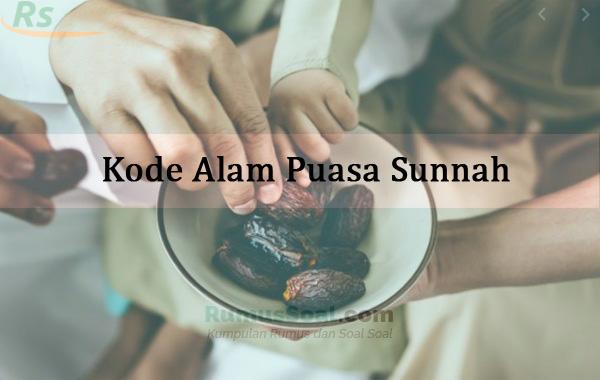 Kode Alam Puasa Sunnah