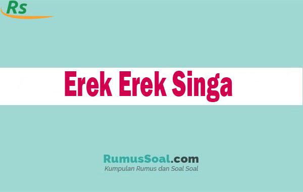 Erek Erek Singa