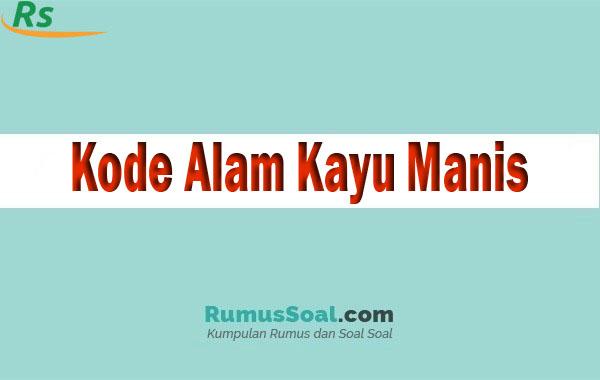 Kode Alam Kayu Manis